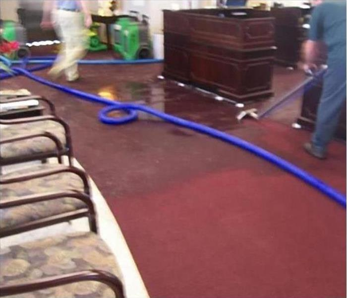 Water Damage At Commercial Banking Facility Before